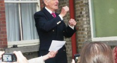 Con Lynch delivers his speech at Farewell party in July 2012